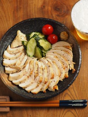 鶏むね肉のアンチョビマヨネーズ010