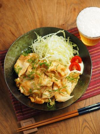 鶏むね肉の梅しそ焼き023