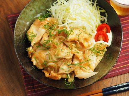 鶏むね肉の梅しそ焼き015