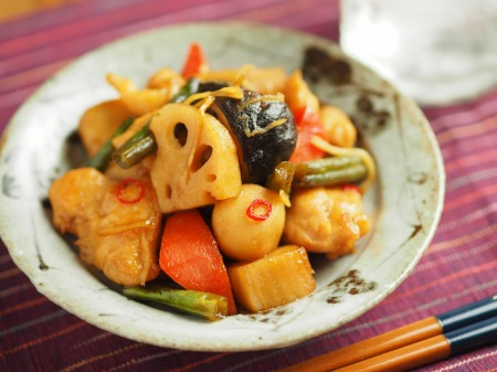 鶏むね肉と和風野菜のぽん酢040