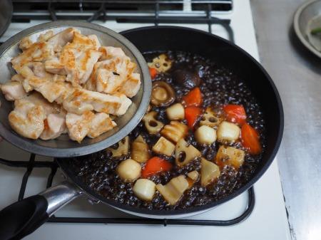 鶏むね肉と和風野菜のぽん酢063