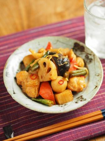 鶏むね肉と和風野菜のぽん酢043