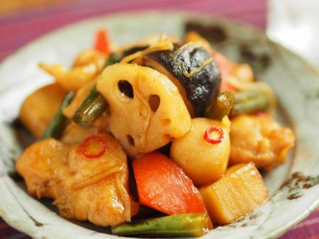 鶏むね肉と和風野菜のぽん酢022