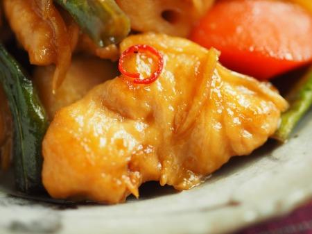 鶏むね肉と和風野菜のぽん酢025