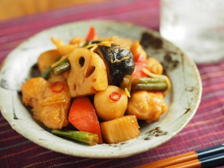 鶏むね肉と和風野菜のぽん酢035