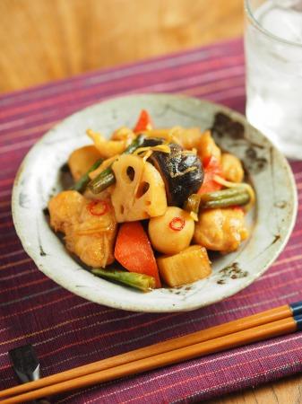 鶏むね肉と和風野菜のぽん酢044