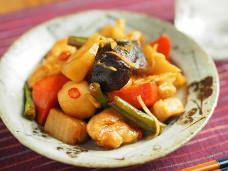 鶏むね肉と和風野菜のぽん酢034