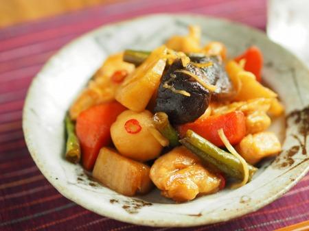 鶏むね肉と和風野菜のぽん酢033