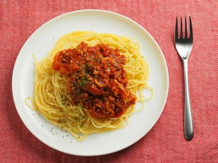 豚ひき肉でミートスパゲティ017