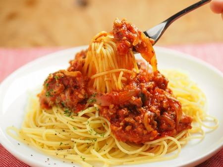 豚ひき肉でミートスパゲティ021