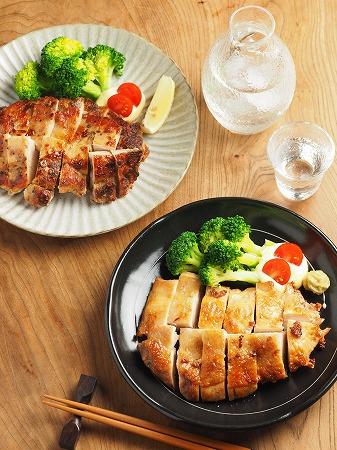 鶏むね肉のアンチョビ焼き、塩013