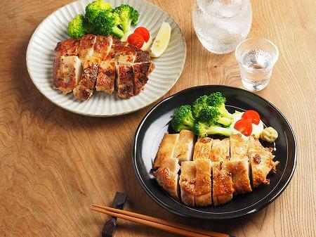 鶏むね肉のアンチョビ焼き、塩007