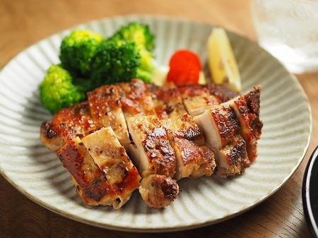 鶏むね肉のアンチョビ焼き、塩026
