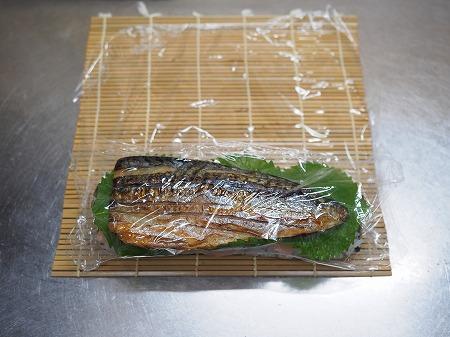 甘塩さばで焼きさば寿司066