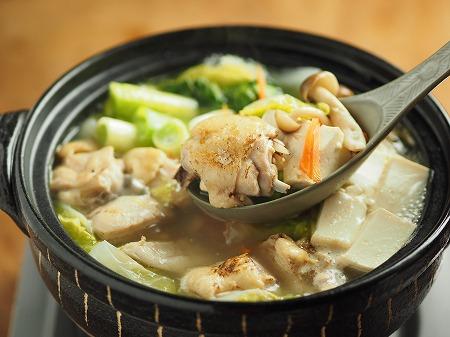 炙り鶏の水炊き031