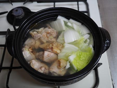 炙り鶏の水炊き050