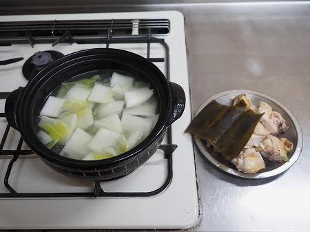 炙り鶏の水炊き051