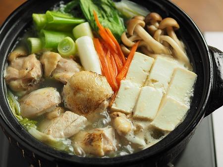 炙り鶏の水炊き023