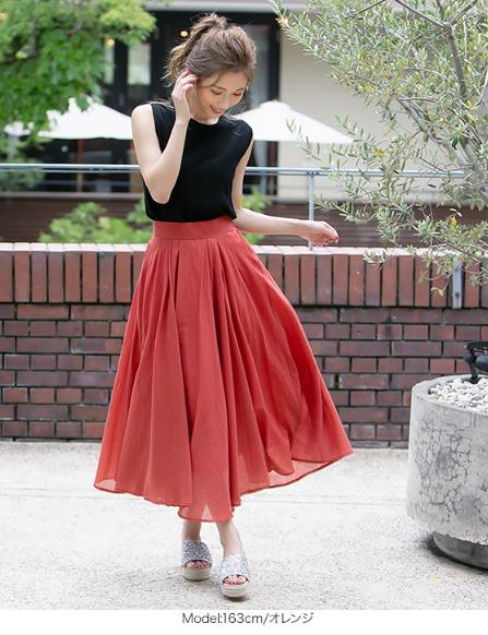 フレアスカート3