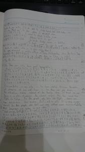 英語書き始めの様子