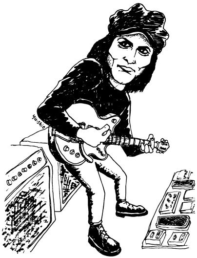 Jack White Raconteurs caricature likeness