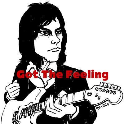 Jeff Beck caricature likeness