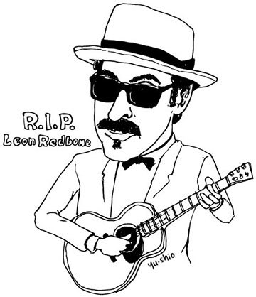 Leon Redbone caricature likeness