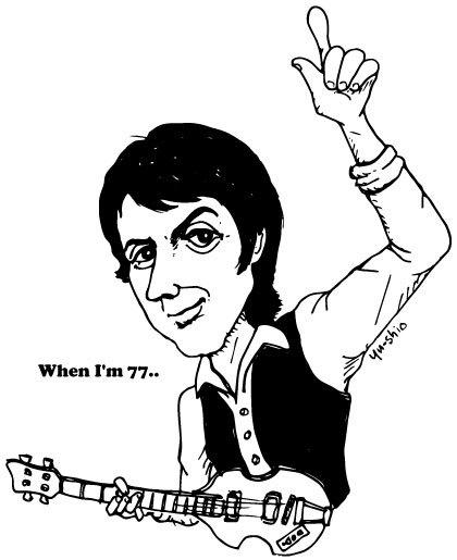 Paul McCartney caricature likeness