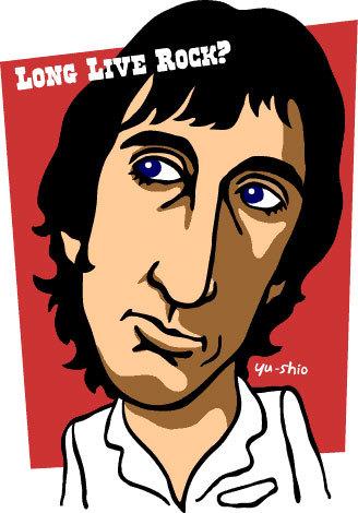 Pete Townshend caricature likeness