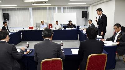 第1回の「確認会議」(9月10日、札幌市内で)