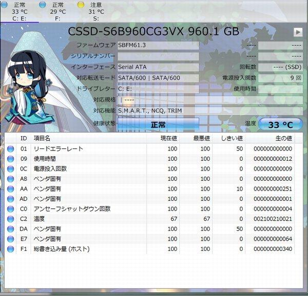 CrystalDiscInfo960GBSSD詳細