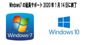 Windows 7サポート終了表示