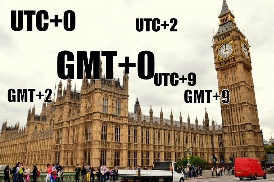 GMT、UTC 時差