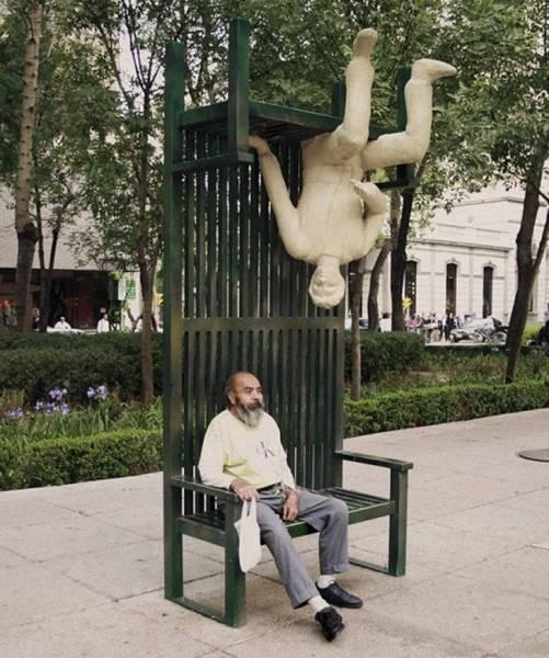 変った公園のベンチの画像(9枚目)