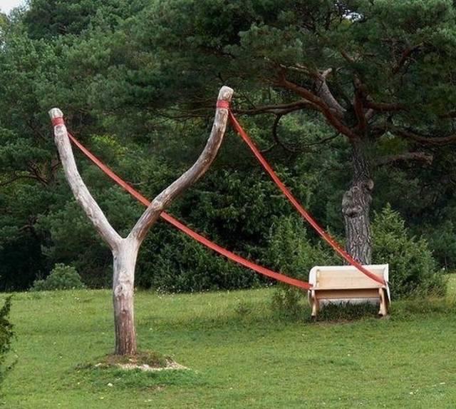 変った公園のベンチの画像(14枚目)