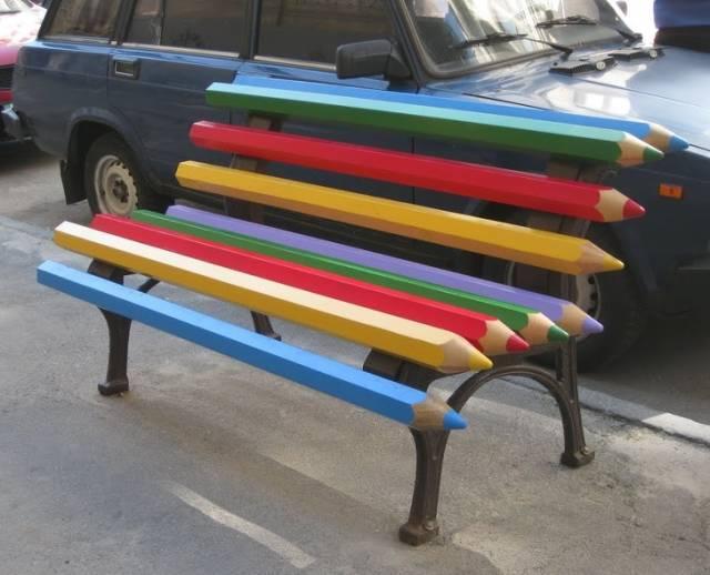 変った公園のベンチの画像(5枚目)