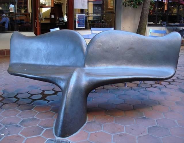 変った公園のベンチの画像(8枚目)