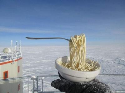 南極で食べ物を外に放置02