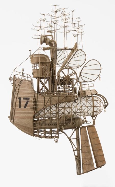 スチームパンクな飛行船の画像(1枚目)