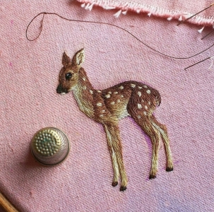 動物のように見える刺繍06