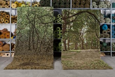 生い茂る森林を再現した絨毯06