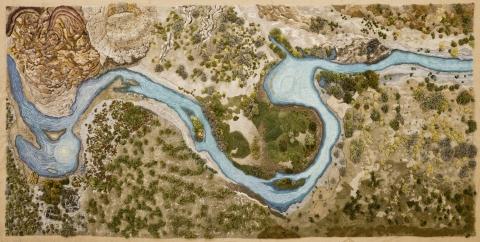 生い茂る森林を再現した絨毯09