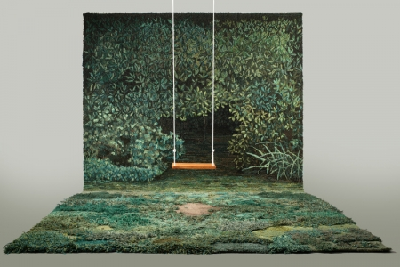 生い茂る森林を再現した絨毯10