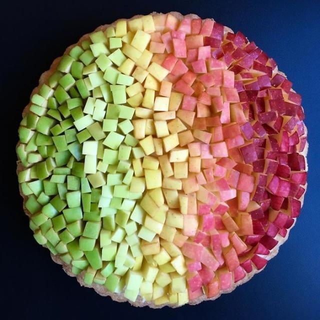 美しい色彩とパターンのケーキの画像(9枚目)