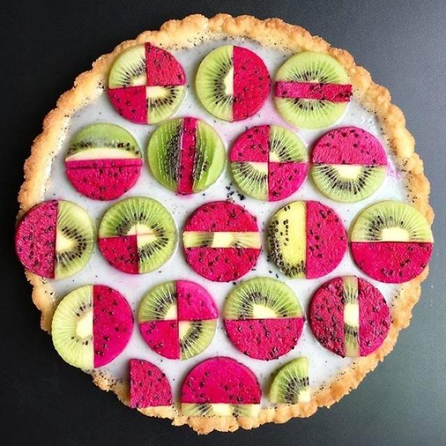 美しい色彩とパターンのケーキの画像(14枚目)