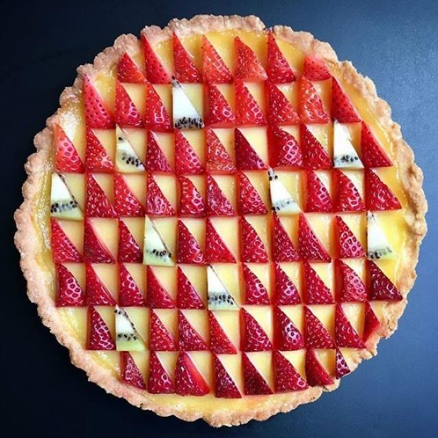 美しい色彩とパターンのケーキの画像(16枚目)