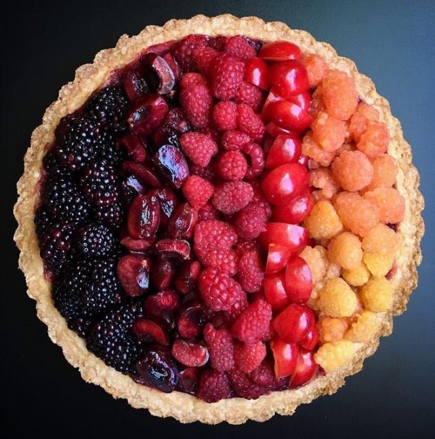 美しい色彩とパターンのケーキの画像(3枚目)