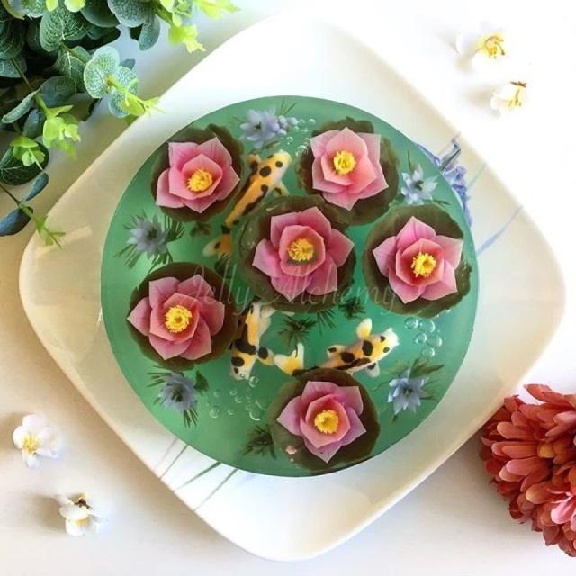 本物のお花を閉じ込めたようなケーキの画像(9枚目)