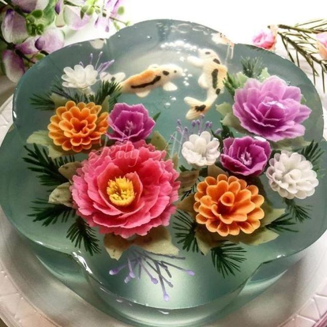 本物のお花を閉じ込めたようなケーキの画像(10枚目)