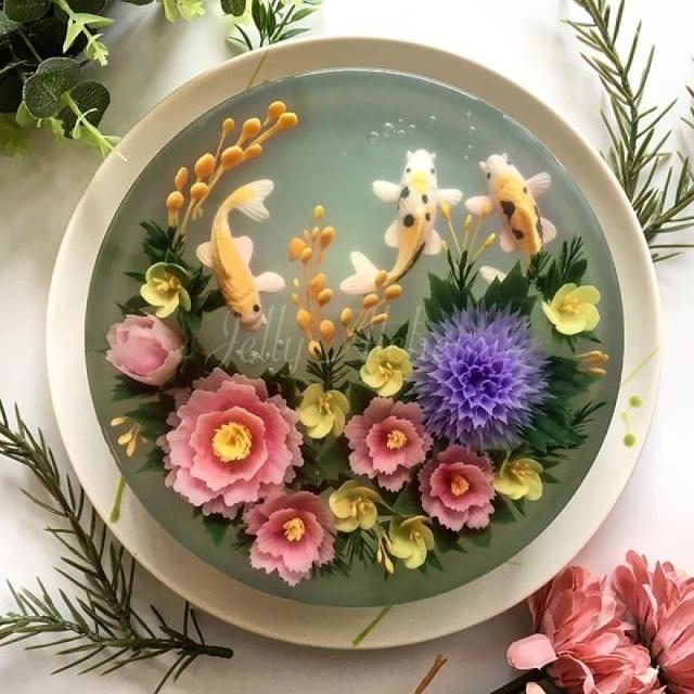 本物のお花を閉じ込めたようなケーキの画像(15枚目)
